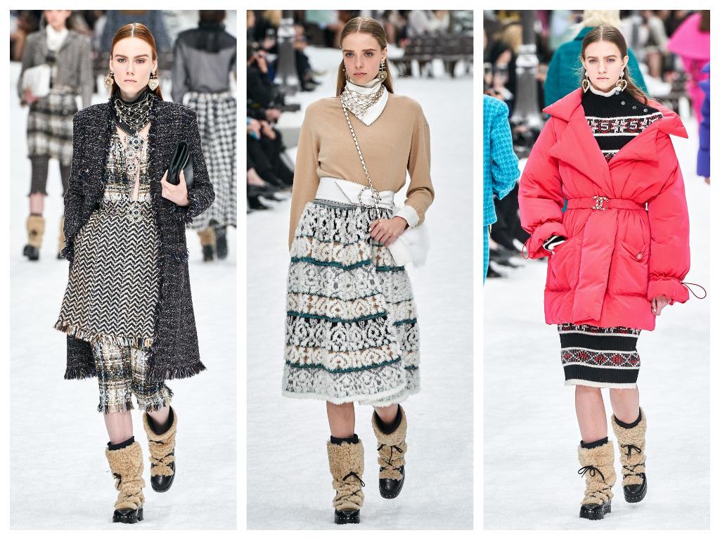 модная женская обувь зима 2020 - сапоги дутики