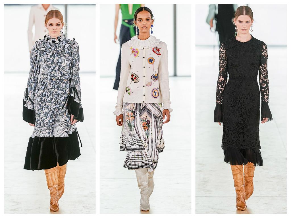 модная женская обувь зима 2020 - сапоги с широким голенищем светлого цвета