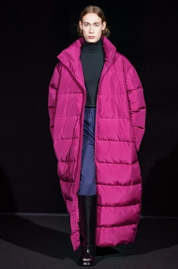 модный пуховик зима 2020, фото стильных образов