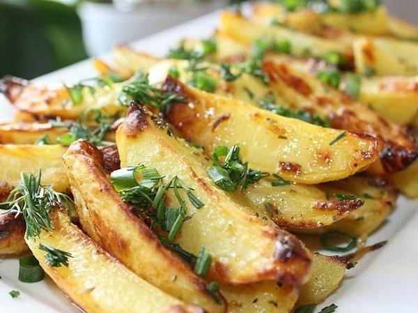 рецепт картошки с чесноком на гарнир
