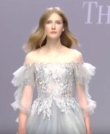 оригинальный рукав с воланами - свадебная мода 2020