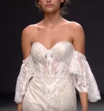 рукава со спущенной линией кроя - свадебная мода 2020