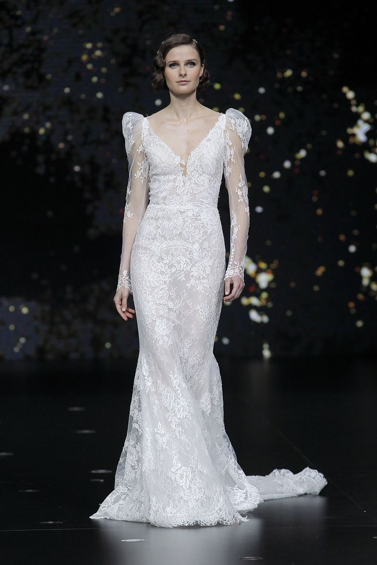 рукава с небольшим объемом - свадебная мода 2020