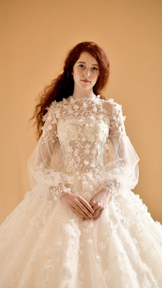 свадебное платье с длинными рукавами - мода для невест 2020