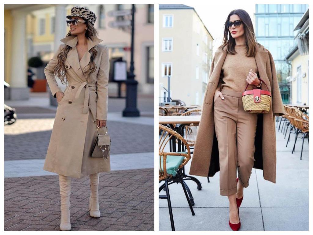 верхня одежда пудрового оттенка, мода 2020