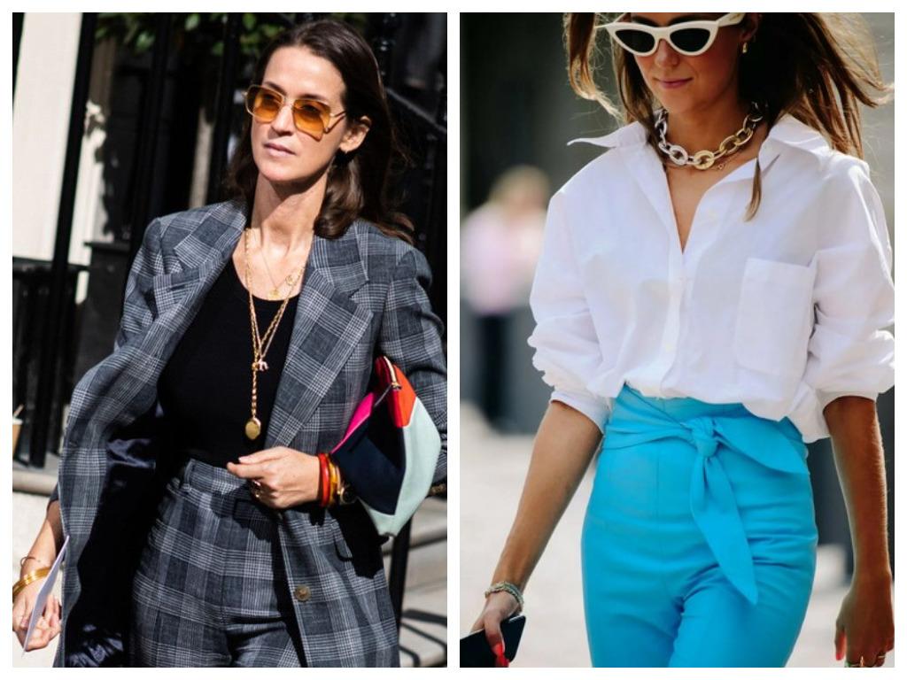 с чем носить колье цепочку летом 2020, мода и стиль