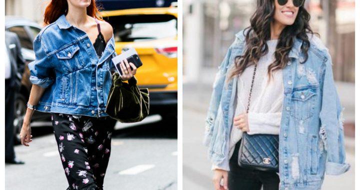 14 модных образов с удлиненной джинсовой курткой