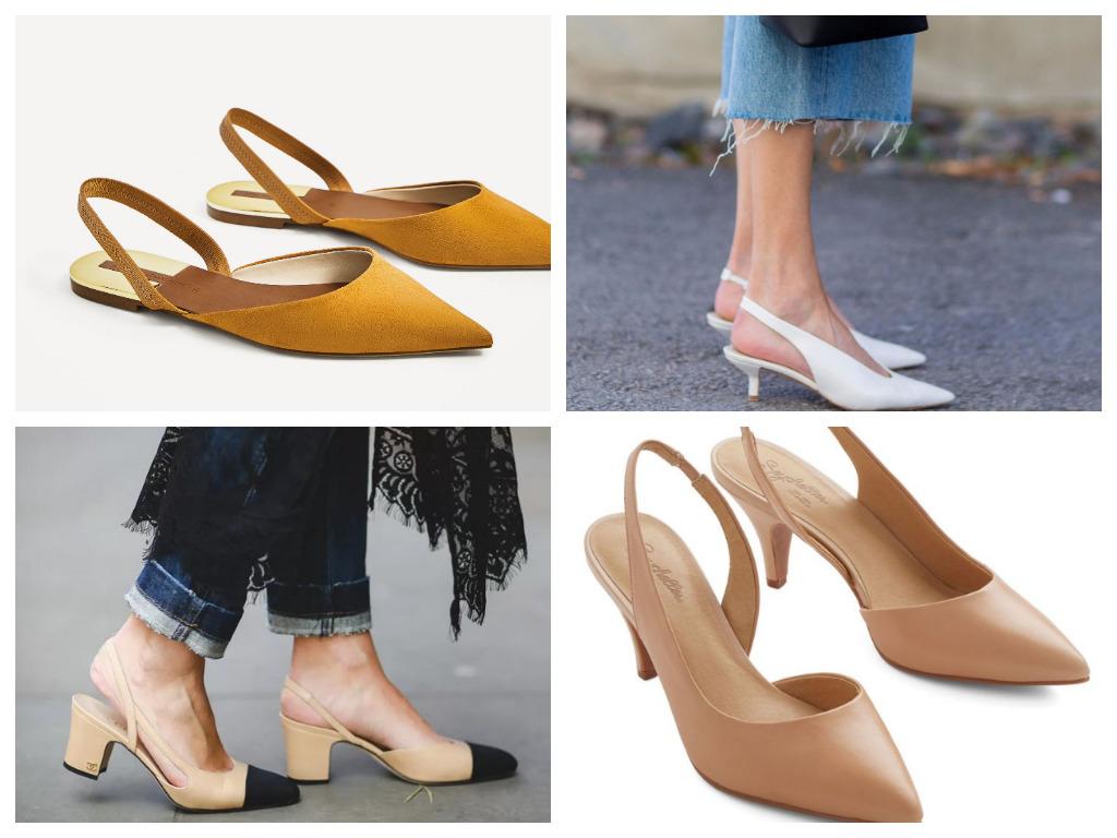 слингбэки - что это, особенности, модная женская обувь на лето