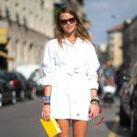 14 модных образов с белым платьем