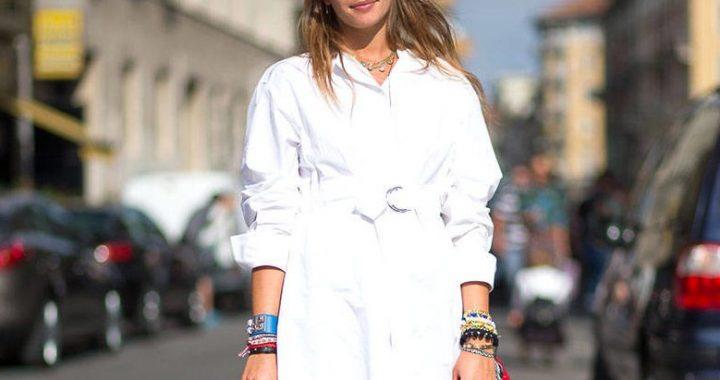 короткое белое платье рубашка