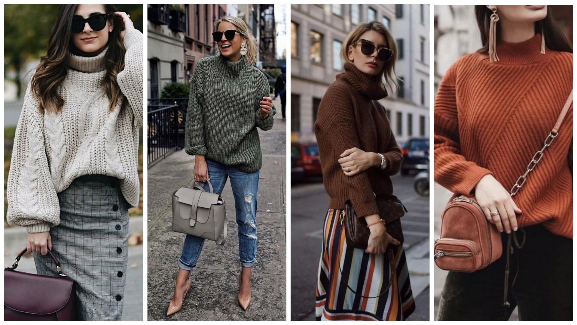 трикотажный свитер на соень 2020, мода осени