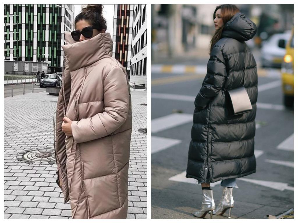пуховик оверсайз - мода зима 2020-2021