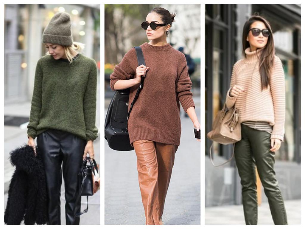 кожаные брюки - 5 вещей для уютного зимнего гардероба