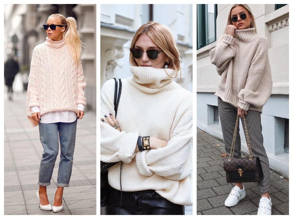 объемный свитер - 5 вещей для уютного зимнего гардероба