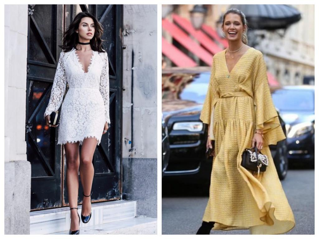 Платье на Новый год 2021 - белое и желтое платье в год Быка