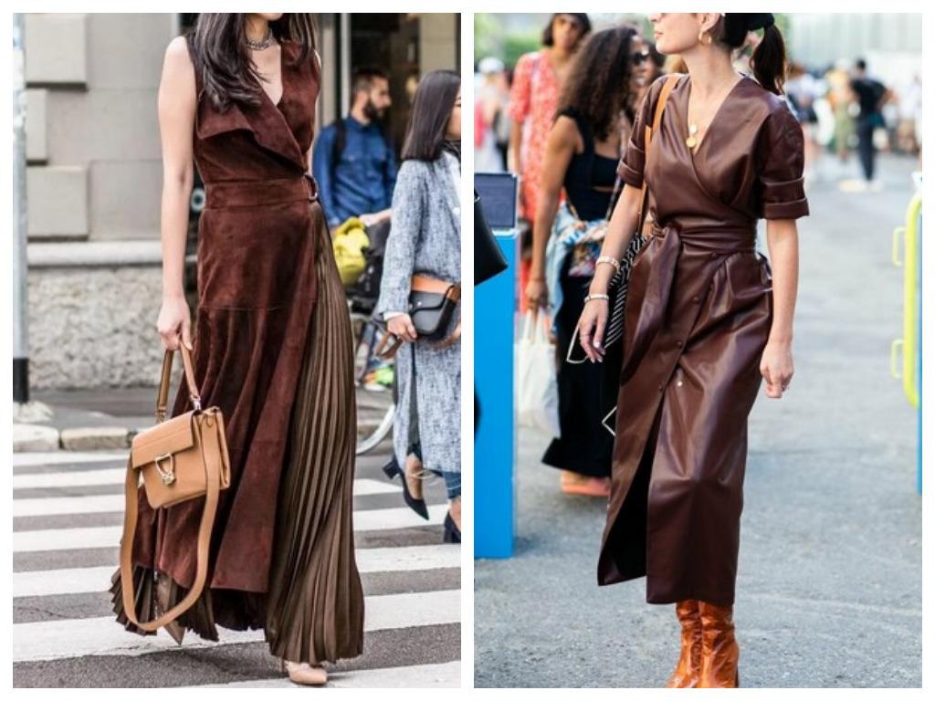 Платье на Новый год 2021 - выбираем платье коричневого цвета стихии земли в год быка
