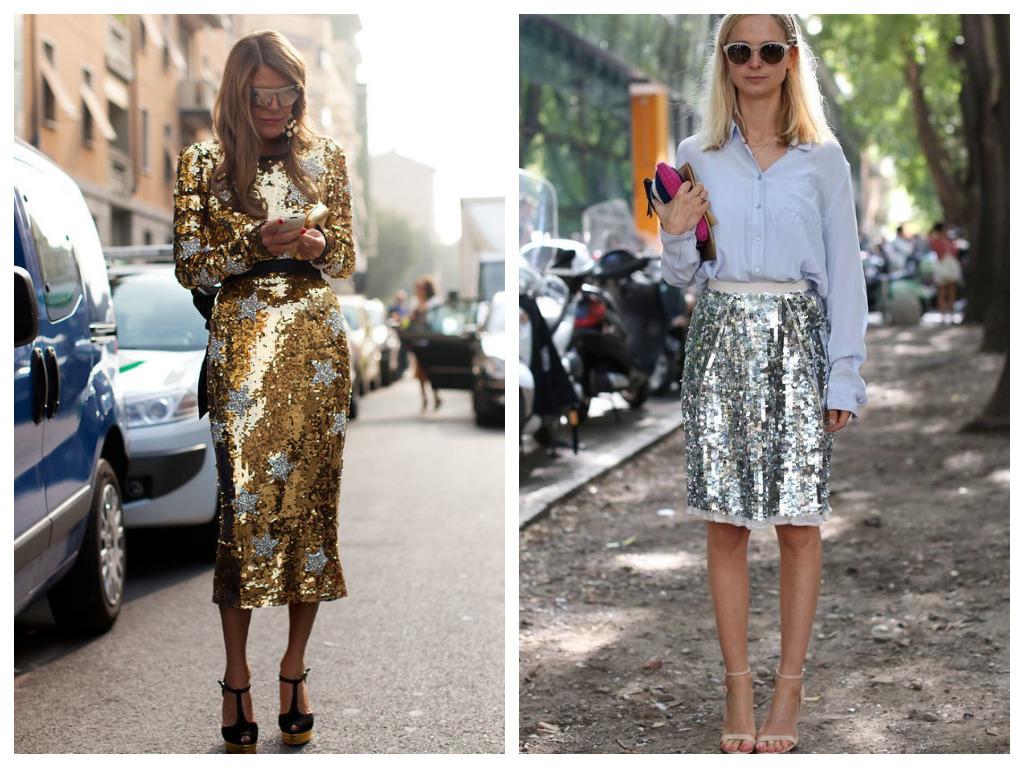 Платье на Новый год 2021 - серебристое и золотистое платье с пайетками